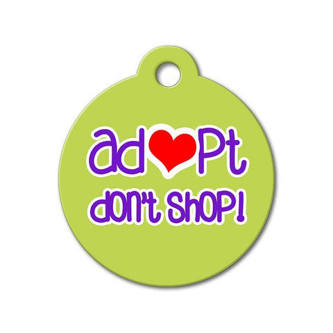 Adopt Don't Shop - Rescue Pet Tag - WagAvenue - 1