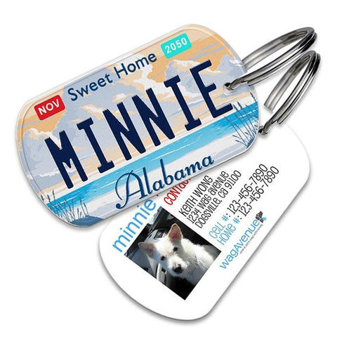 Alabama License Plate Pet Tag - WagAvenue - 1