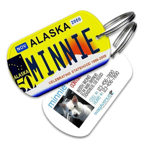 Alaska License Plate Pet Tag - WagAvenue - 1
