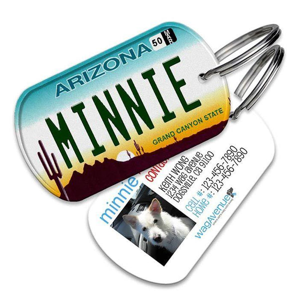 Arizona License Plate Pet Tag - WagAvenue - 1