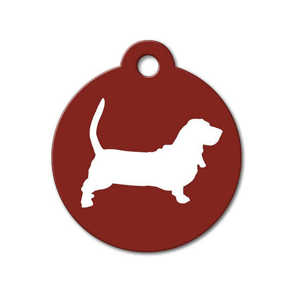 Basset Hound - Silhouette Pet Tag - WagAvenue - 1