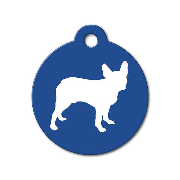 Boston Terrier - Silhouette Pet Tag - WagAvenue - 1