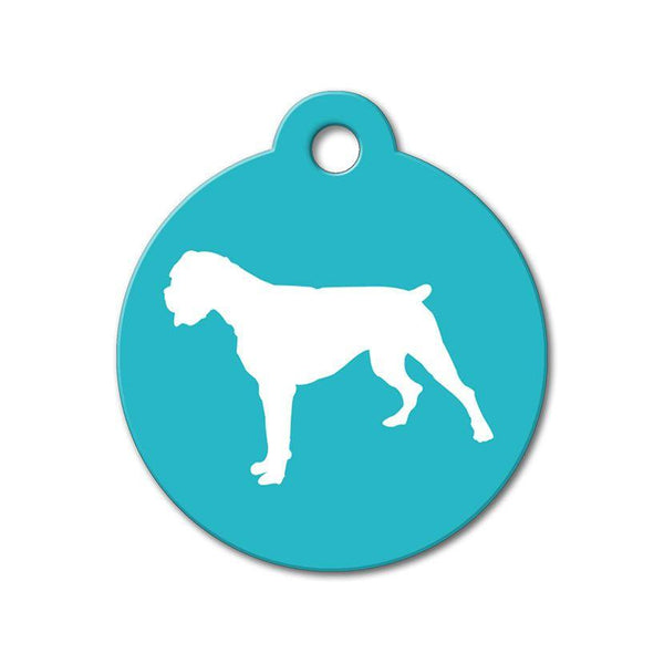 Boxer - Silhouette Pet Tag - WagAvenue - 1