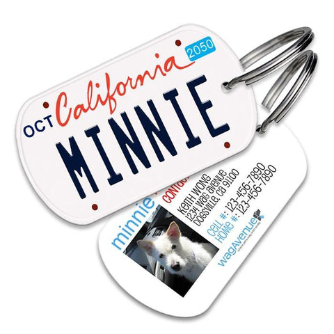 California License Plate Pet Tag - WagAvenue - 1