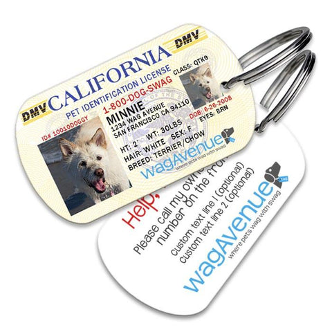 California Driver's License Pet Tag - WagAvenue - 1