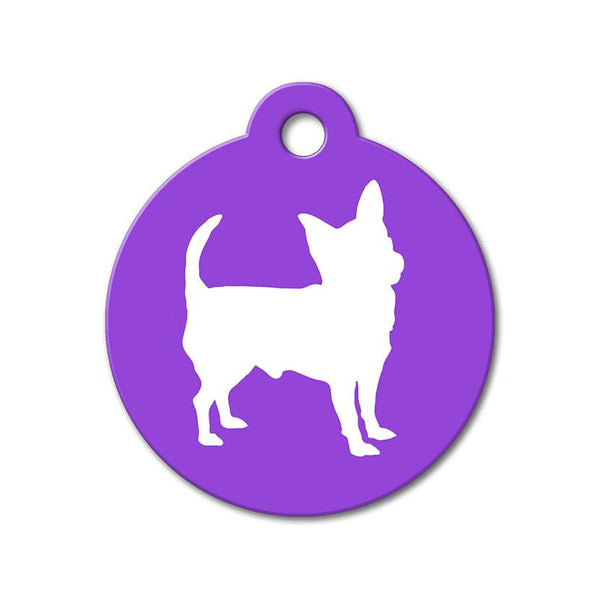 Chihuahua - Silhouette Pet Tag - WagAvenue - 1