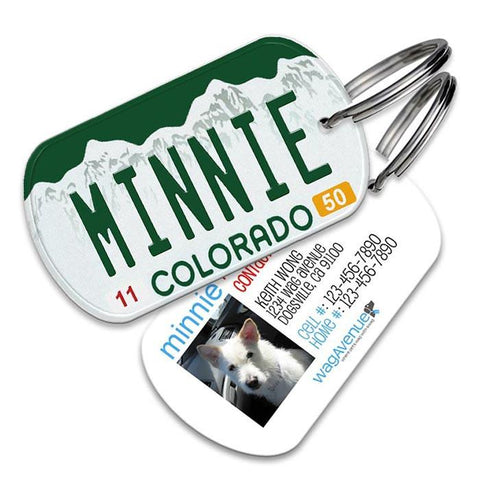 Colorado License Plate Pet Tag - WagAvenue - 1