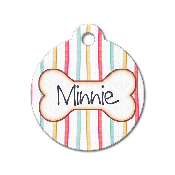 Colorful Stripes - Pattern Pet Tags - WagAvenue - 1