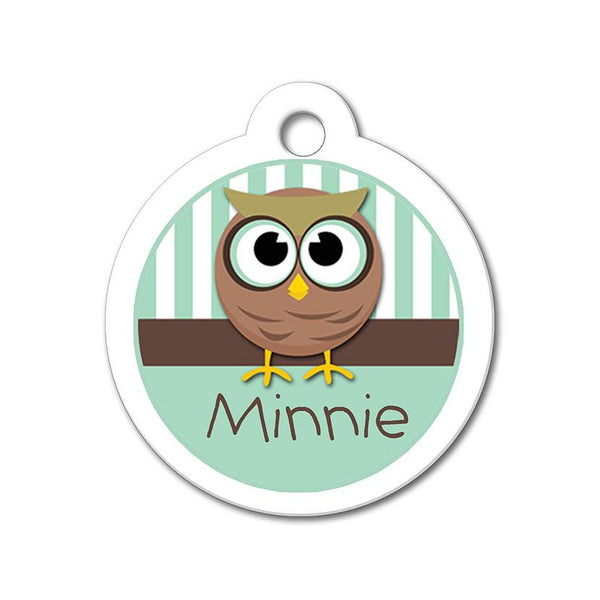 Whimsical Owl - Cute Pet Tag - WagAvenue - 1