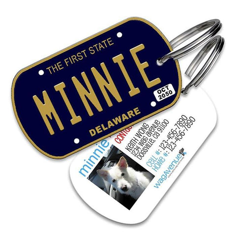 Delaware License Plate Pet Tag - WagAvenue - 1