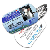 Rhode Island Driver's License Pet Tag - WagAvenue - 1