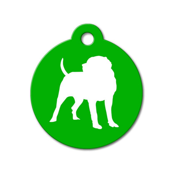 English Mastiff - Silhouette Pet Tag - WagAvenue - 1