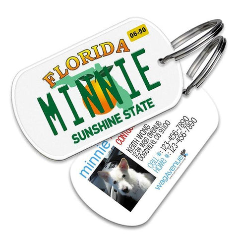 Florida License Plate Pet Tag - WagAvenue - 1