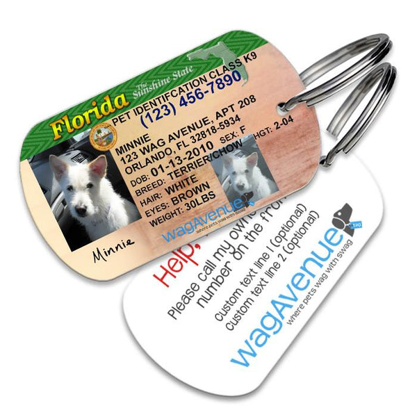 Florida Driver's License Pet Tag - WagAvenue - 1