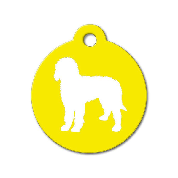 Goldendoodle - Silhouette Pet Tag - WagAvenue - 1