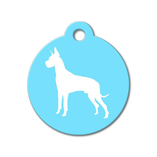 Great Dane - Silhouette Pet Tag - WagAvenue - 1