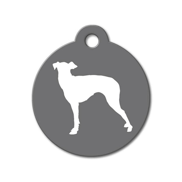 Greyhound - Silhouette Pet Tag - WagAvenue - 1