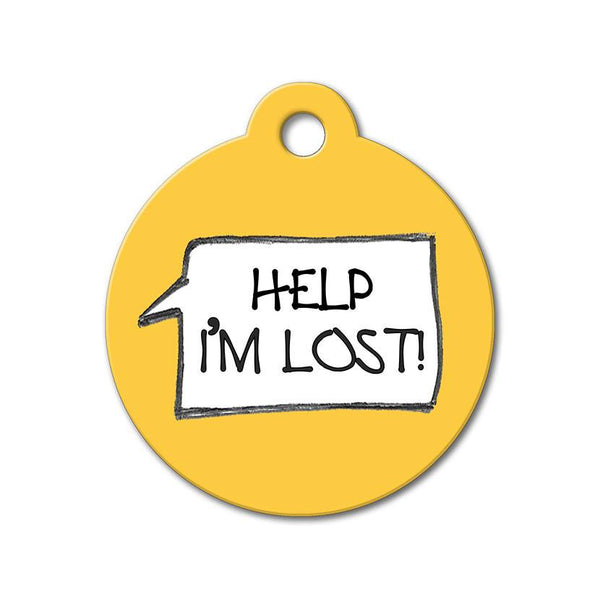 Help I'm Lost - Funny Pet Tags - WagAvenue - 1