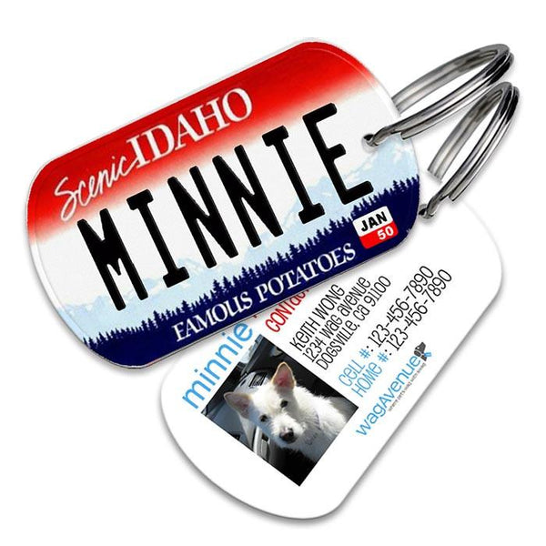 Idaho License Plate Pet Tag - WagAvenue - 1