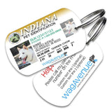 Indiana Driver's License Pet Tag - WagAvenue - 1