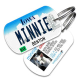 Iowa License Plate Pet Tag - WagAvenue - 1