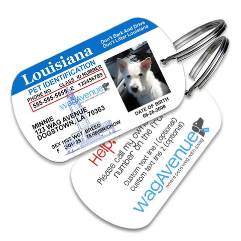 Louisiana Driver's License Pet Tag - WagAvenue - 1