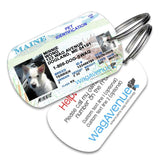 Maine Driver's License Pet Tag - WagAvenue - 1