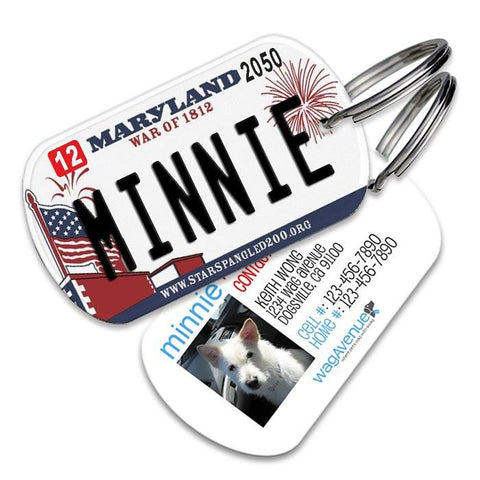 Maryland License Plate Pet Tag - WagAvenue - 1