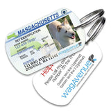 Massachusetts Driver's License Pet Tag - WagAvenue - 1