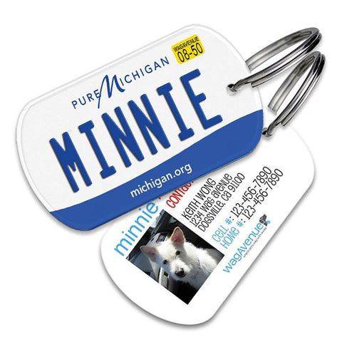 Michigan License Plate Pet Tag - WagAvenue - 1