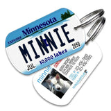 Minnesota License Plate Pet Tag - WagAvenue - 1