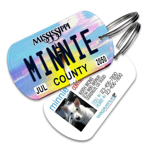 Mississippi License Plate Pet Tag - WagAvenue - 1