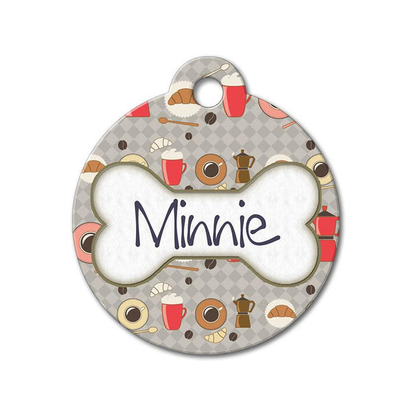 Morning Breakfast - Pattern Pet Tags - WagAvenue - 1