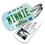 New Hampshire License Plate Pet Tag - WagAvenue - 1
