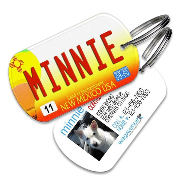 New Mexico License Plate Pet Tag - WagAvenue - 1