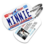 North Carolina License Plate Pet Tag - WagAvenue - 1
