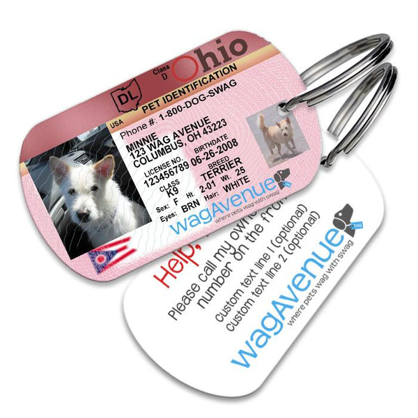 Ohio Driver's License Pet Tag - WagAvenue - 1