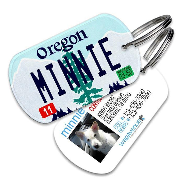 Oregon License Plate Pet Tag - WagAvenue - 1