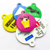 Purple Cute Puppy Licking Bone - Cute Pet Tag - WagAvenue - 4