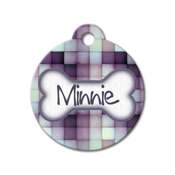 Purple Tiles - Pattern Pet Tags - WagAvenue - 1