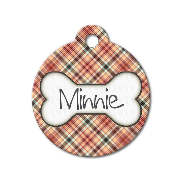 Red Plaid - Pattern Pet Tags - WagAvenue - 1