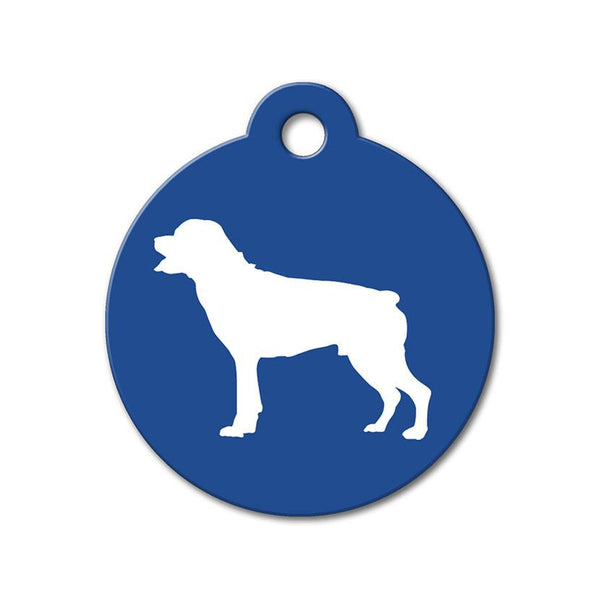 Rottweiler - Silhouette Pet Tag - WagAvenue - 1