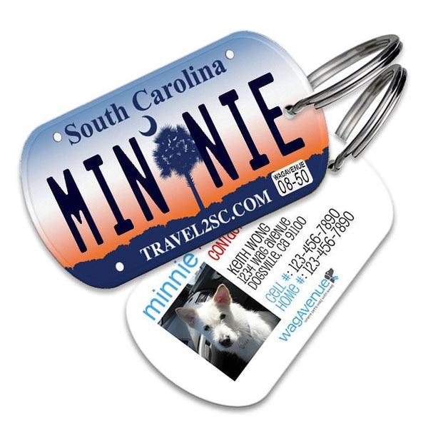South Carolina License Plate Pet Tag - WagAvenue - 1