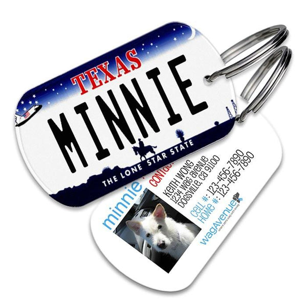 Texas License Plate Pet Tag - WagAvenue - 1