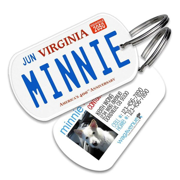 Virginia License Plate Pet Tag - WagAvenue - 1