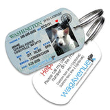 Washington Driver's License Pet Tag - WagAvenue - 1