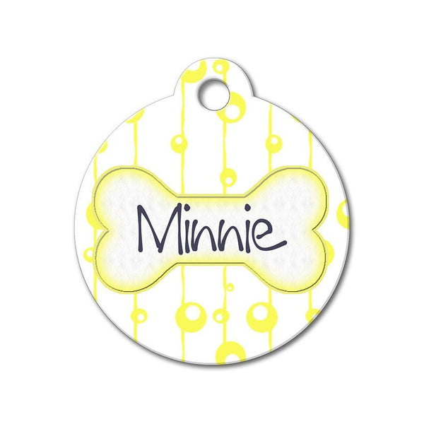 Yellow Bubbles - Pattern Pet Tags - WagAvenue - 1