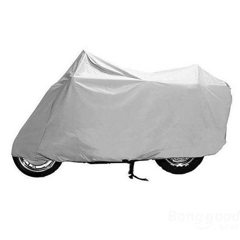 Motorcycle Waterproof Outdoor Cover Silver 285 x 105 x 125cm XXL