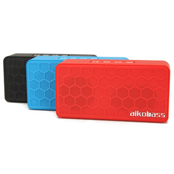AikoBass CombMini Mini Wireless Bluetooth 3.0 Speaker TF AUX FM Radio Built-in Mic Hands-free Speaker