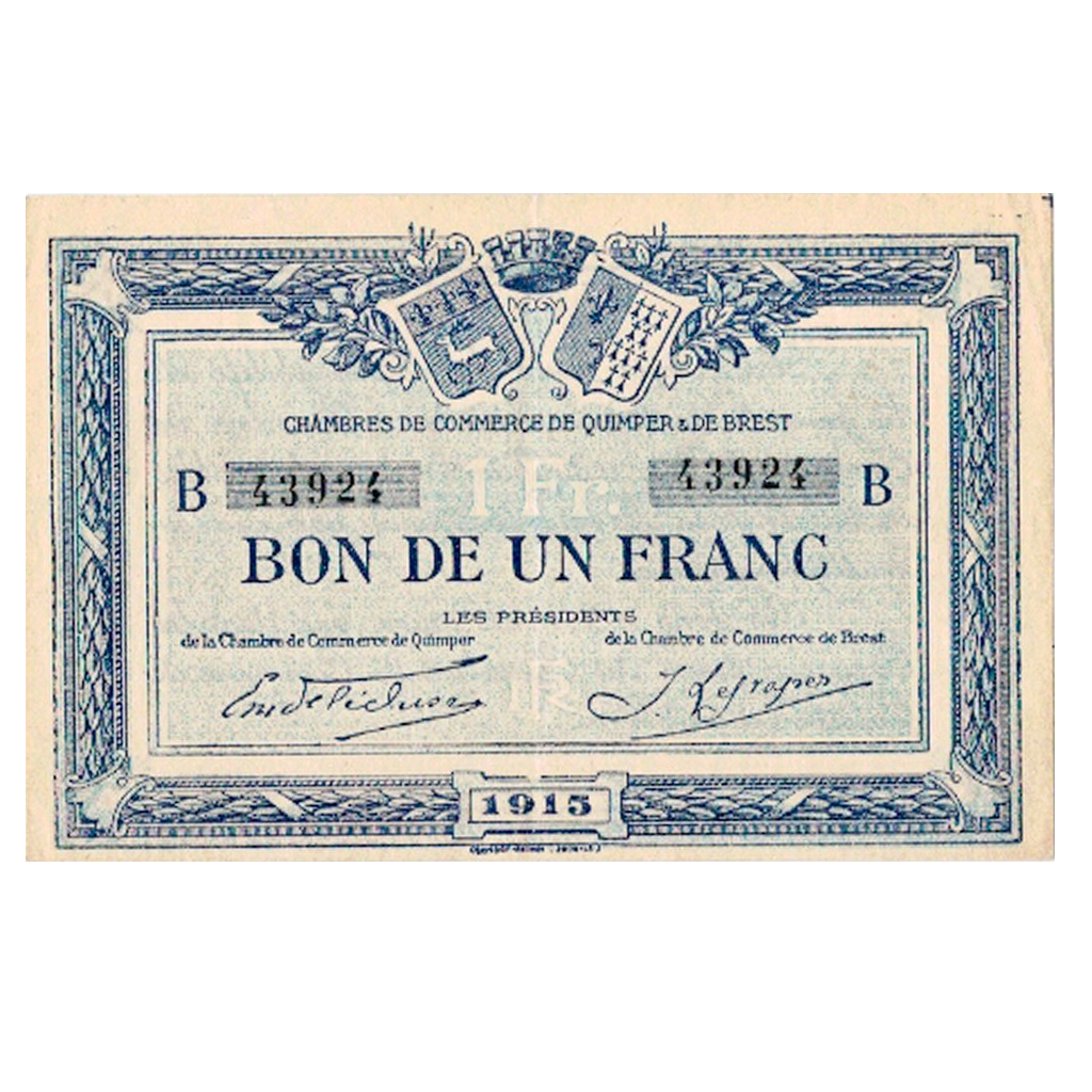 Notgelds issued by french Chambers of Commerce